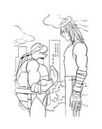 Tartarughe ninja da colorare 102