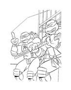 Tartarughe ninja da colorare 110
