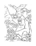 Tarzan da colorare 39