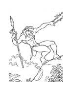 Tarzan da colorare 60