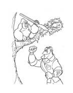 Tarzan da colorare 96