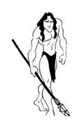 Tarzan da colorare 118