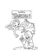 Tarzan da colorare 130