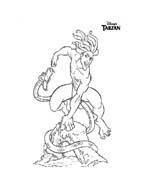 Tarzan da colorare 154