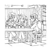 Tea sister da colorare 17