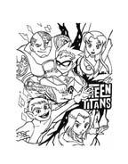 Teen titans da colorare 30