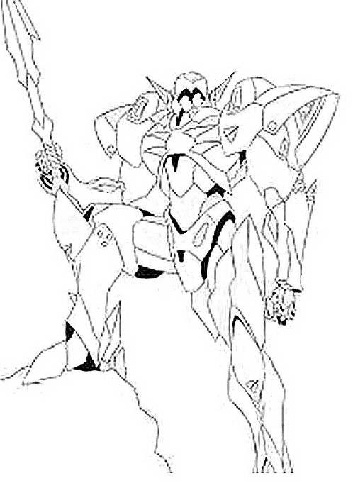 Transformers da colorare 6