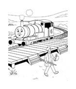 Trenino-thomas da colorare 12