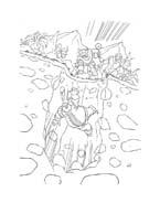 Thor da colorare 16