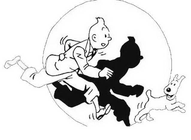 Tintin da colorare