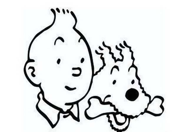 Tintin da colorare 2