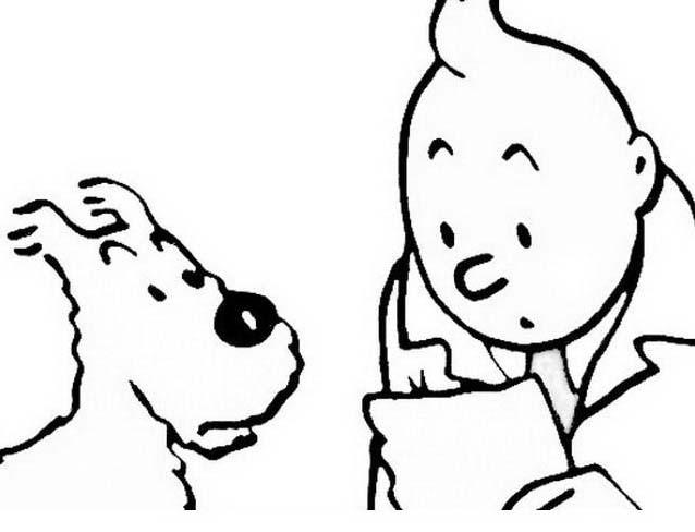 Tintin da colorare 3
