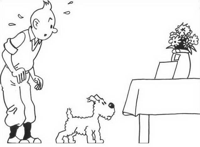 Tintin da colorare 4