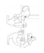 Titti e il gatto Silvestro da colorare 26
