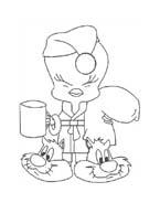 Titti e il gatto Silvestro da colorare 138