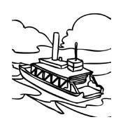 Nave e barca da colorare 139