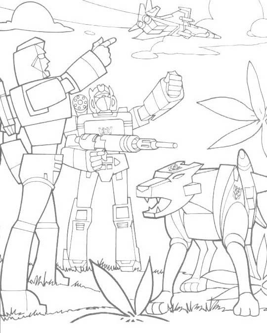 Transformers da colorare 41