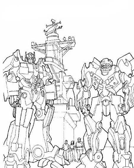 Transformers da colorare 56