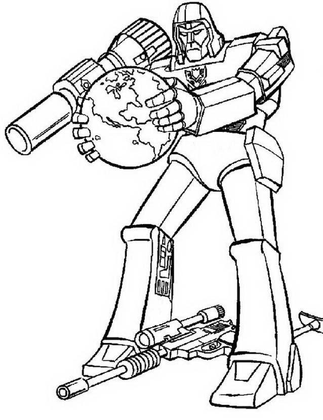 Transformers da colorare 76