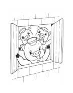 I tre porcellini da colorare 32