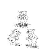 I tre porcellini da colorare 41