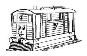 Treno da colorare 14