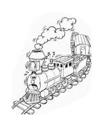 Treno da colorare 28