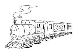 Treno da colorare 32