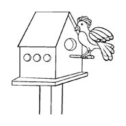 Uccello da colorare 237