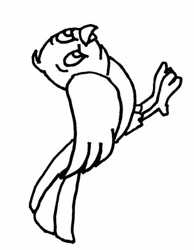 Uccello da colorare 238