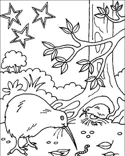Uccello da colorare 245