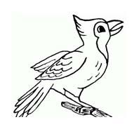 Uccello da colorare 247