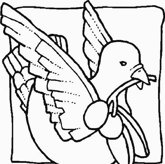 Uccello da colorare 252