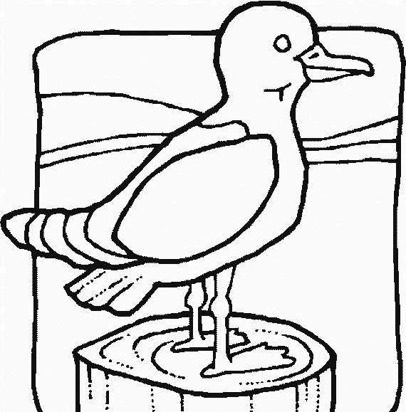 Uccello da colorare 266