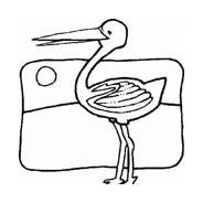 Uccello da colorare 267