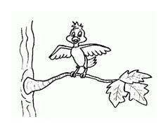 Uccello da colorare 287