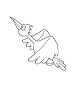 Uccello da colorare 289
