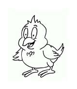 Uccello da colorare 293