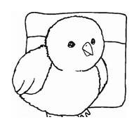 Uccello da colorare 294