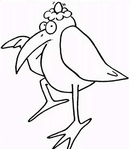 Uccello da colorare 306