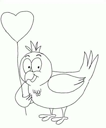Uccello da colorare 333