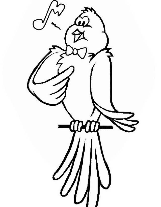 Uccello da colorare 355