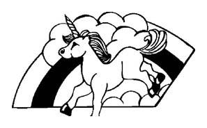 Unicorno da colorare 4