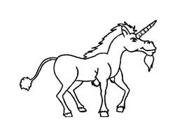 Unicorno da colorare 5