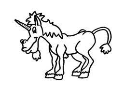 Unicorno da colorare 6