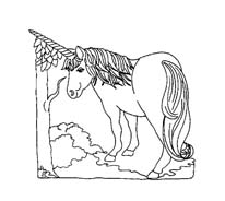 Unicorno da colorare 43