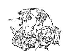 Unicorno da colorare 49