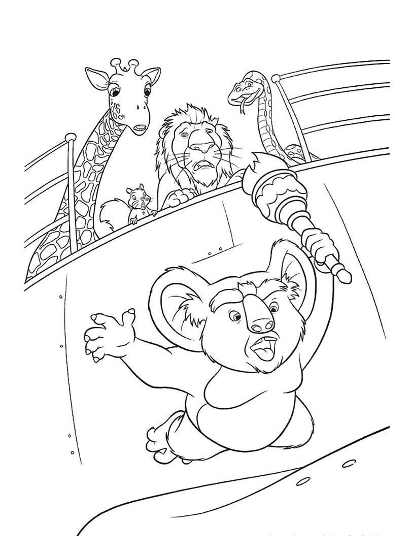 Uno zoo in fuga da colorare 18