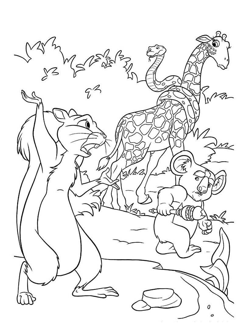 Uno zoo in fuga da colorare 25