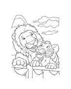 Uno zoo in fuga da colorare 51